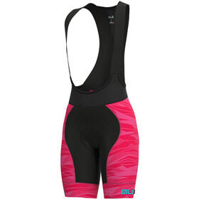Alé Cycling Graphics PRR Rock Bib Shorts Women strawberry/turquoise